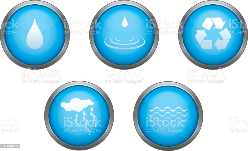 Water Icon Set royalty-free stock vector art