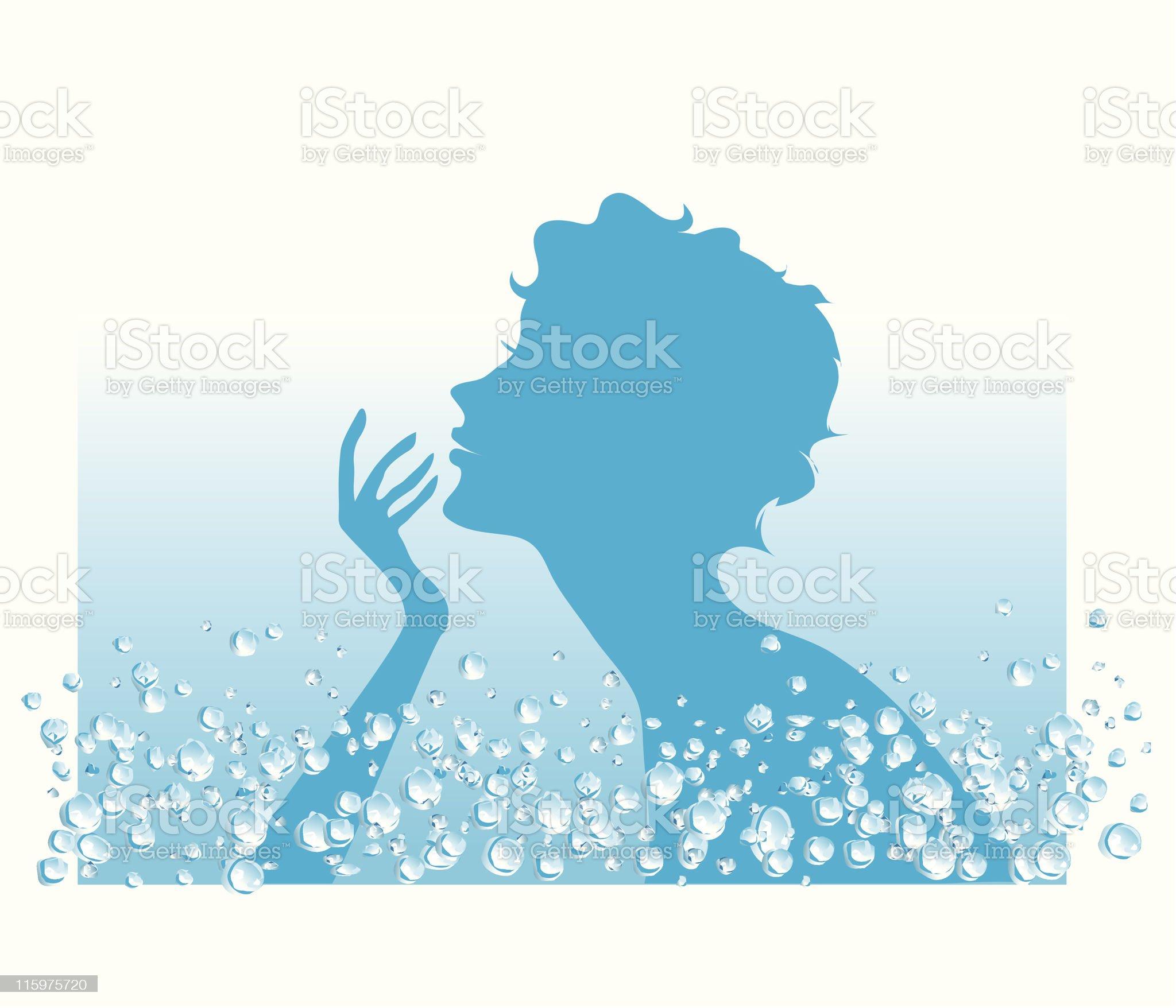 Water in SPA procedures royalty-free stock vector art