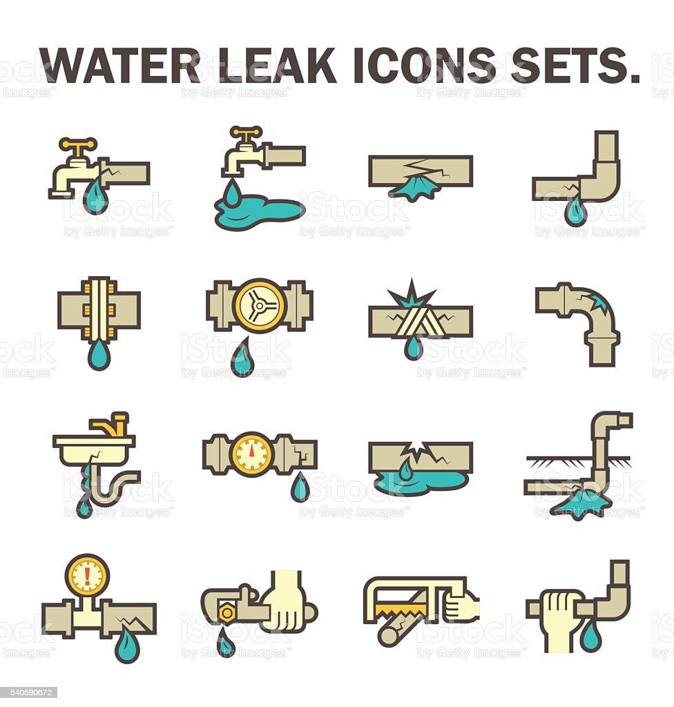 water leak icon vector art illustration