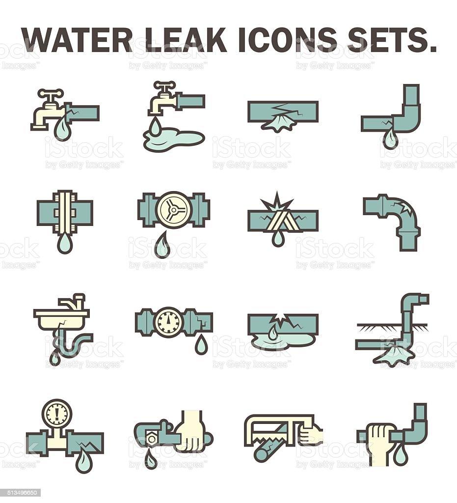 Water leak vector art illustration