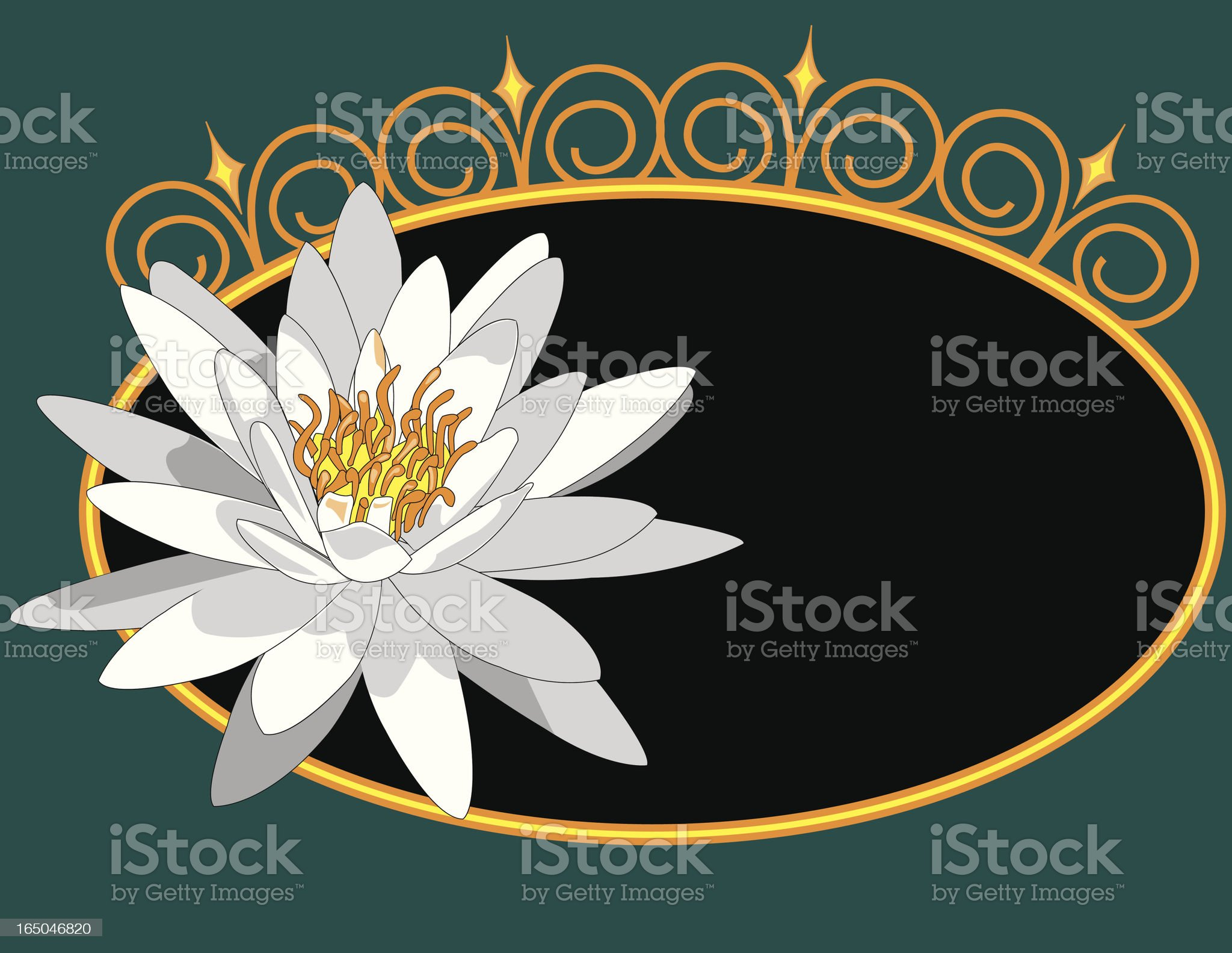 Water Lilly royalty-free stock vector art