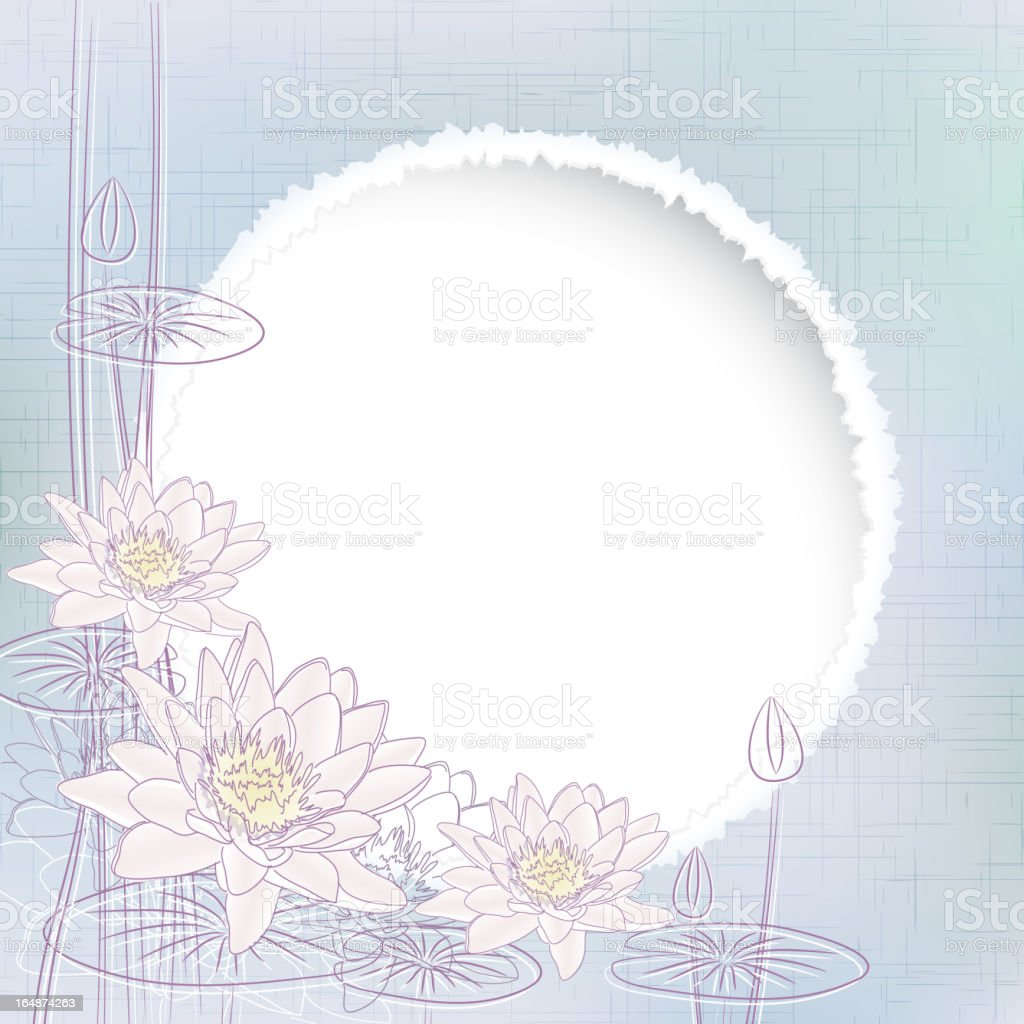 Water Lily Flowers royalty-free stock vector art
