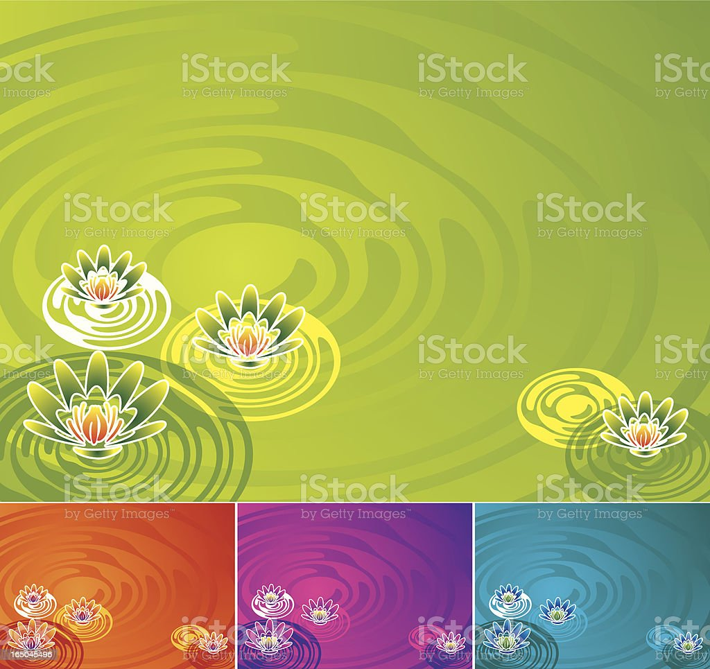 Water Lily royalty-free stock vector art