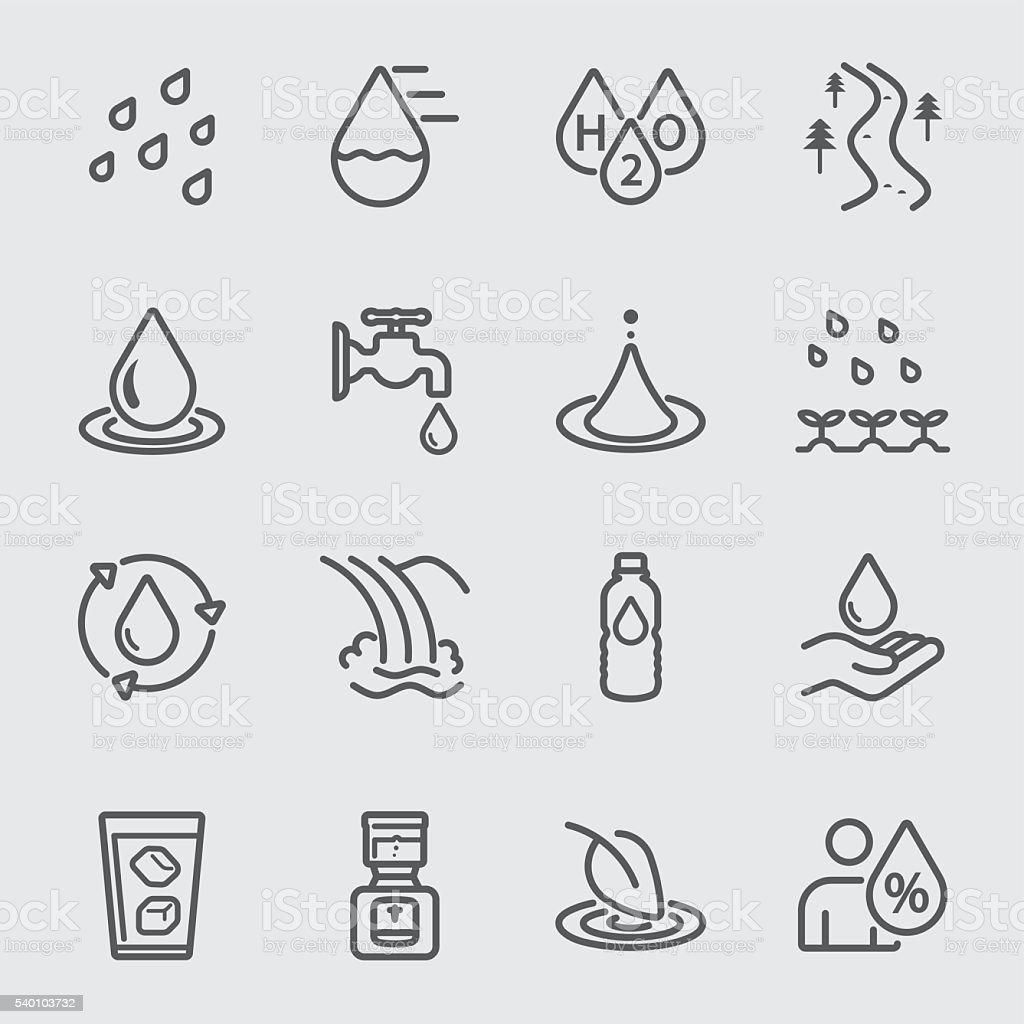 Water line icon vector art illustration