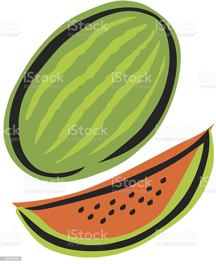 Water Melon royalty-free stock vector art