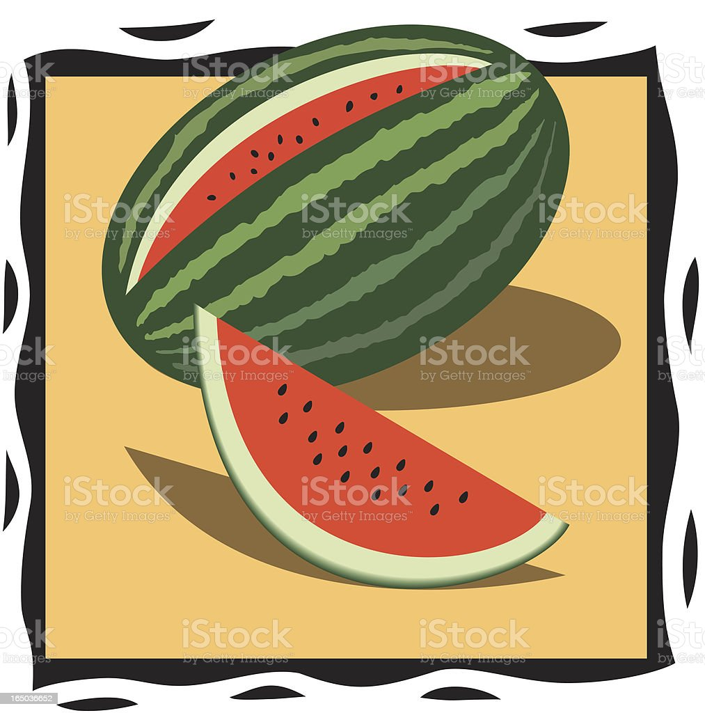 Water Melon royalty-free stock vector art
