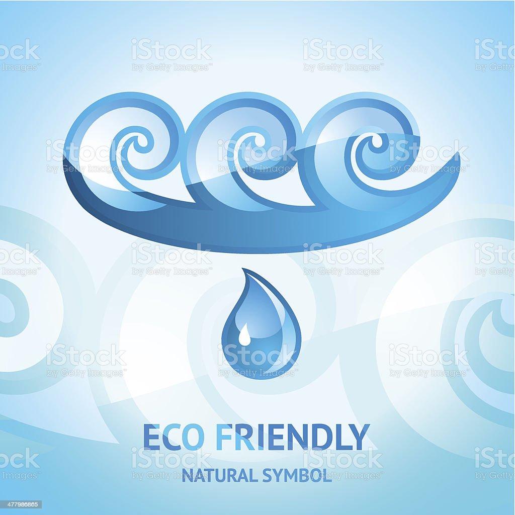 Water natural symbol royalty-free stock vector art