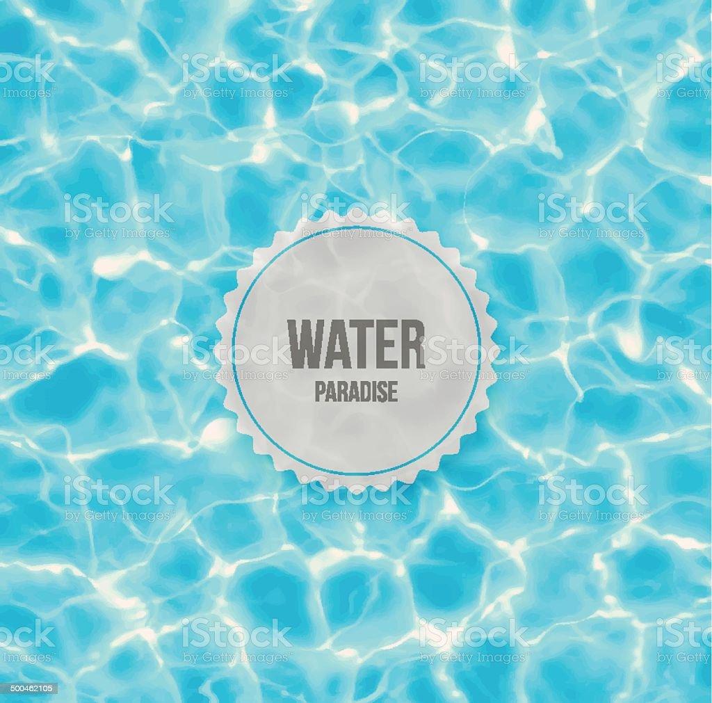 Water paradise vector art illustration