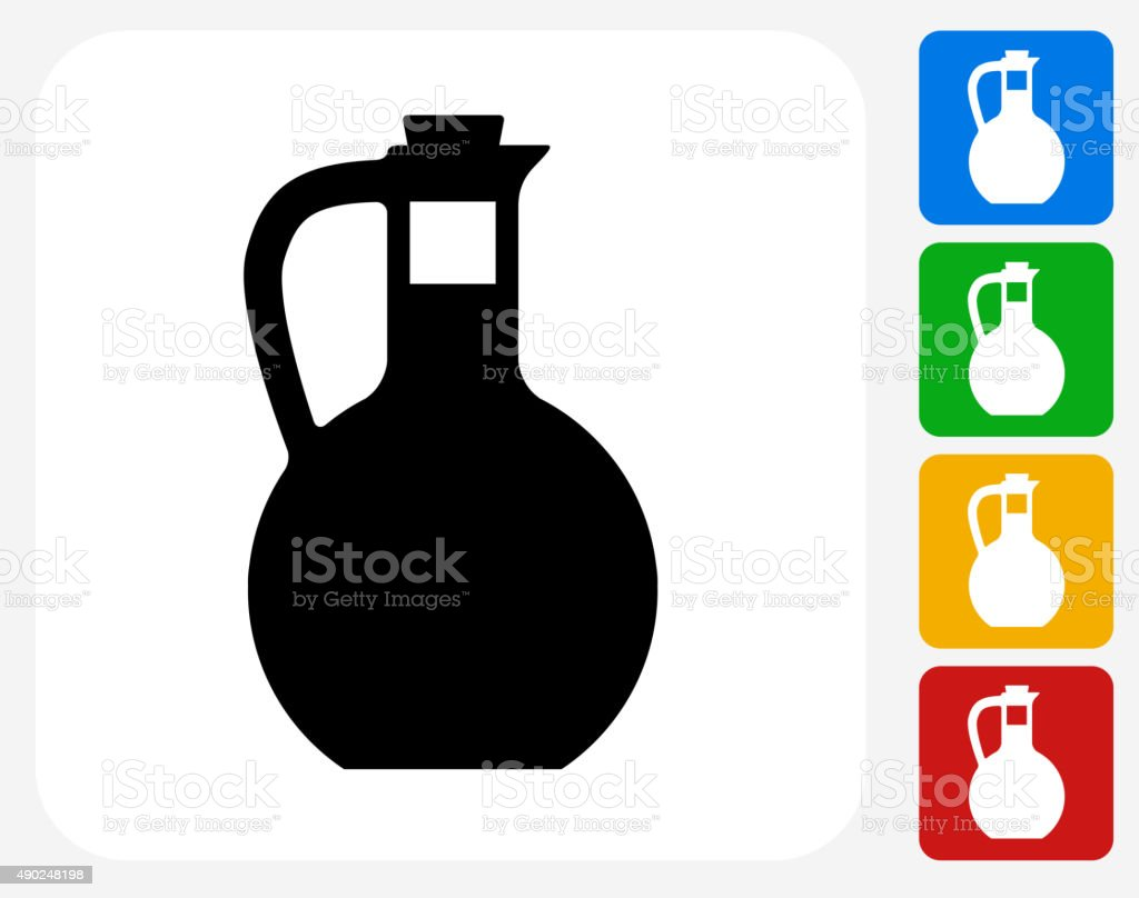 Water Pitcher Icon Flat Graphic Design vector art illustration