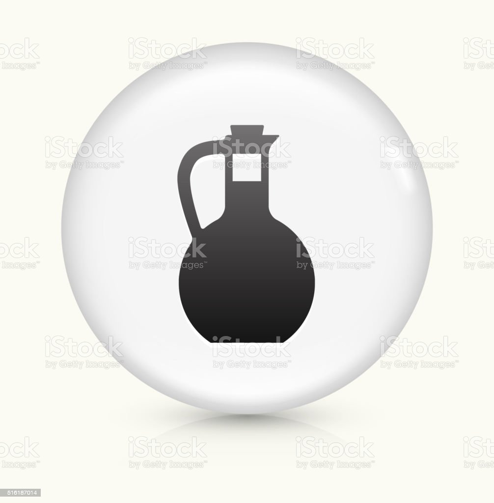 Water Pitcher icon on white round vector button vector art illustration
