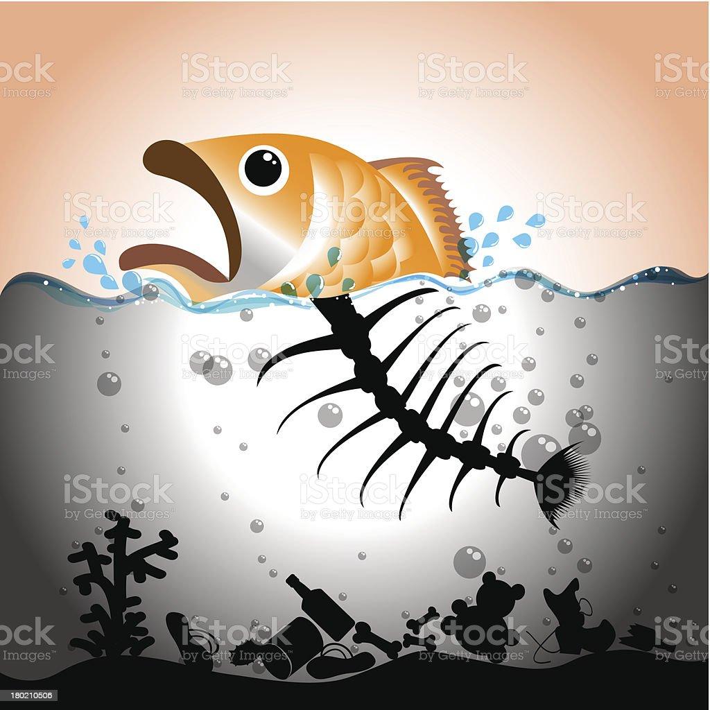 Water Pollution Concept vector art illustration