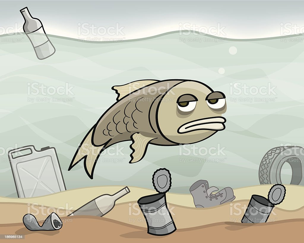 Water Pollution royalty-free stock vector art