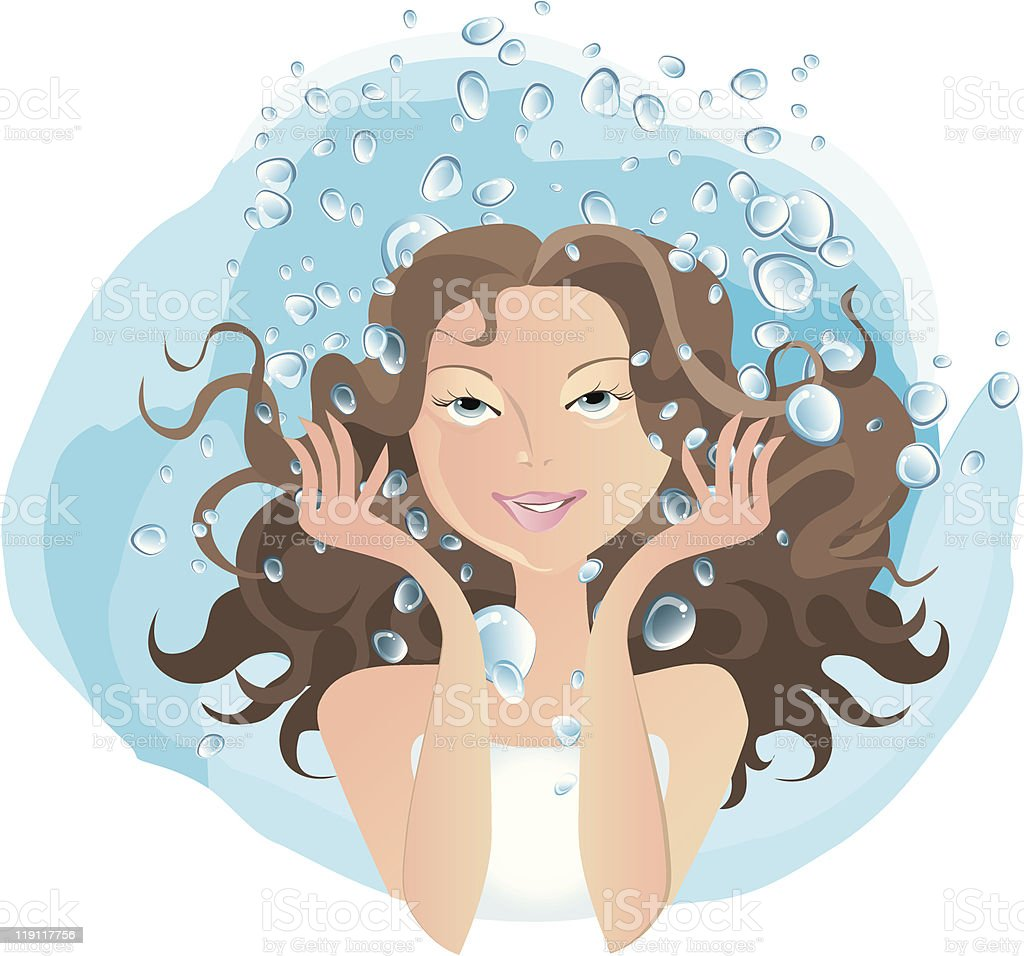 Water procedures royalty-free stock vector art