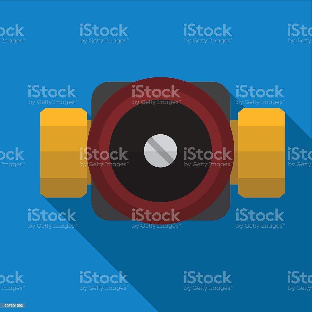 Water pump flat icon iluustration vector art illustration