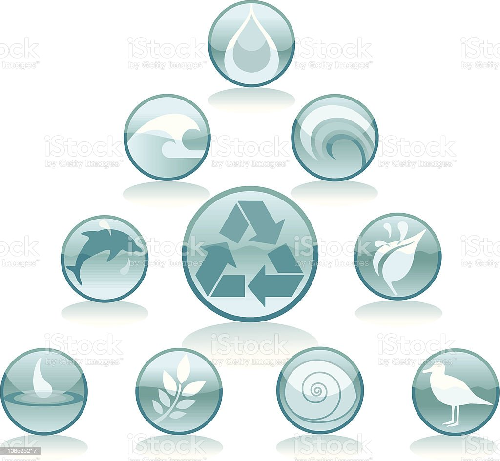 Water Recycling Icons royalty-free stock vector art