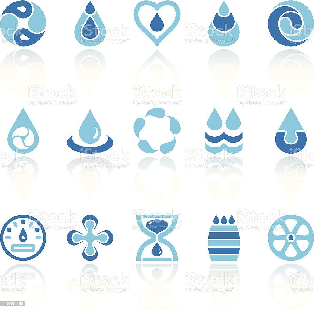 water recycling symbols vector art illustration