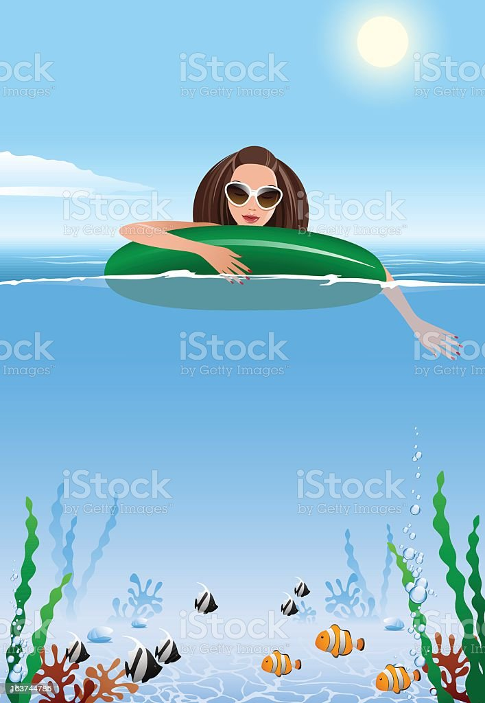 Water rest royalty-free stock vector art