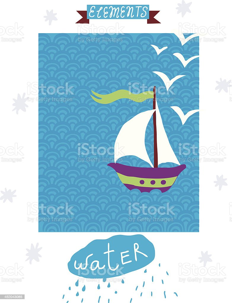 Water. sign the elements, horoscope royalty-free stock vector art