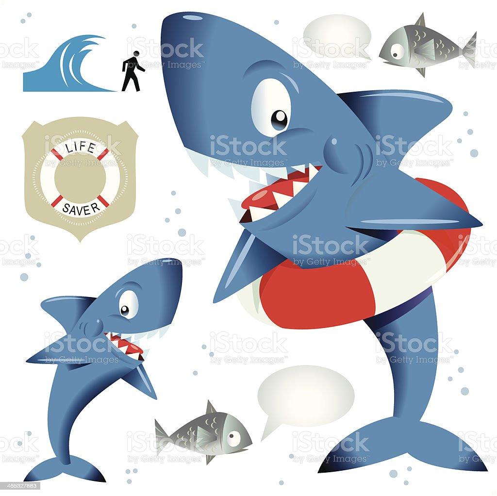 Water Smart Shark vector art illustration