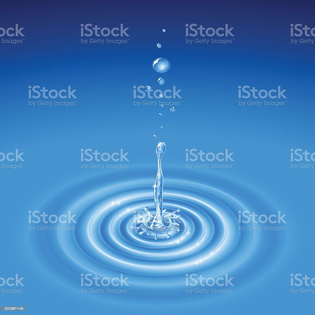 Water Splash Drop Wave Radial vector art illustration