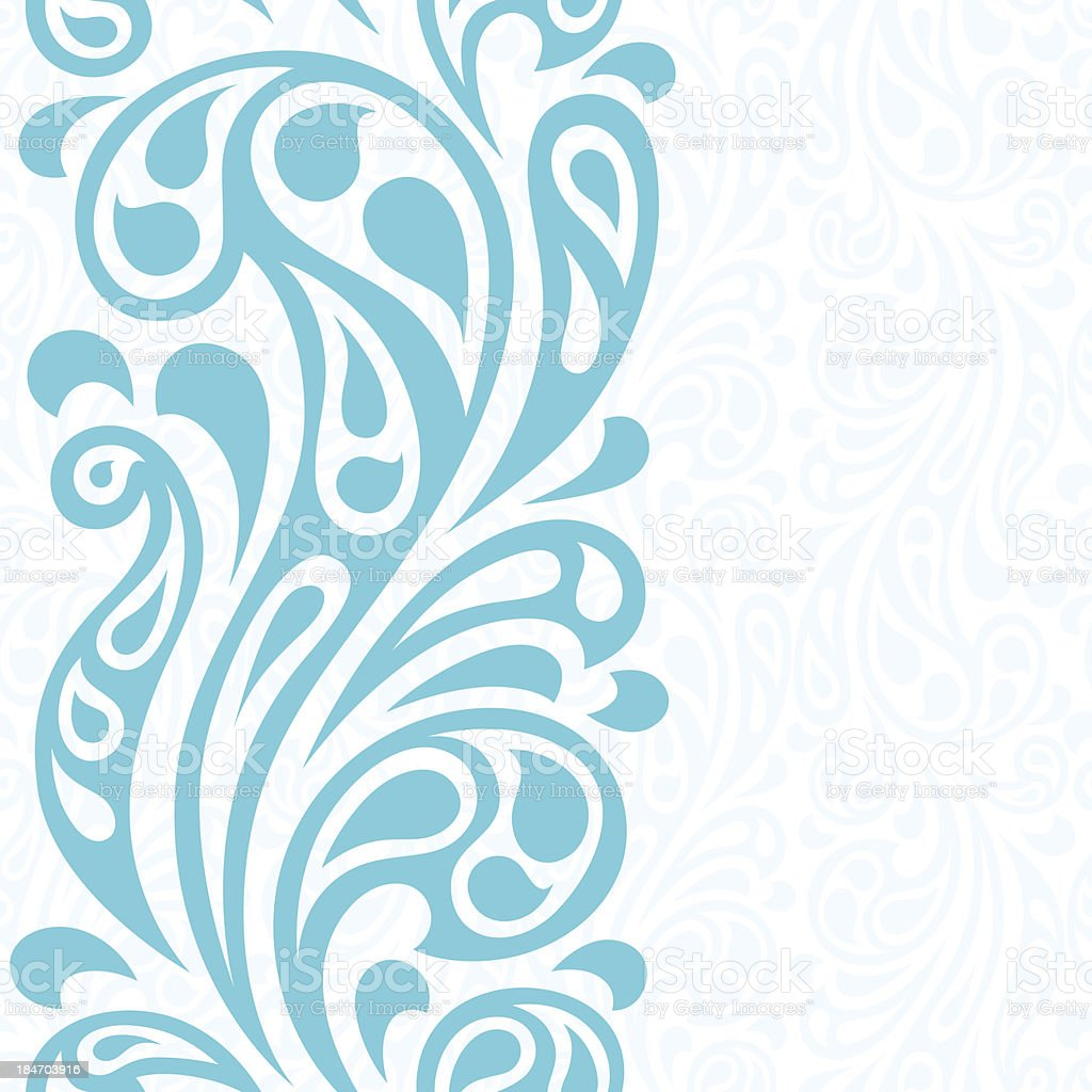 Water splash seamless waves abstract pattern. vector art illustration