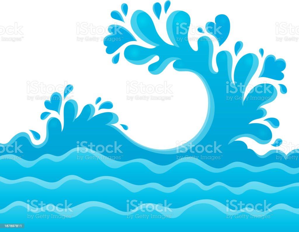 Water splash theme image 6 royalty-free stock vector art