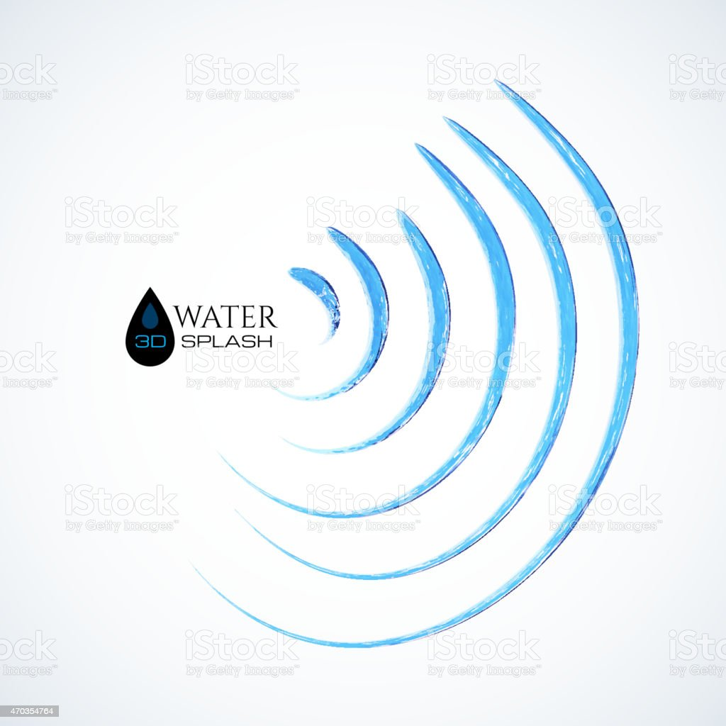 Water splash Wi-Fi symbol on white background vector art illustration