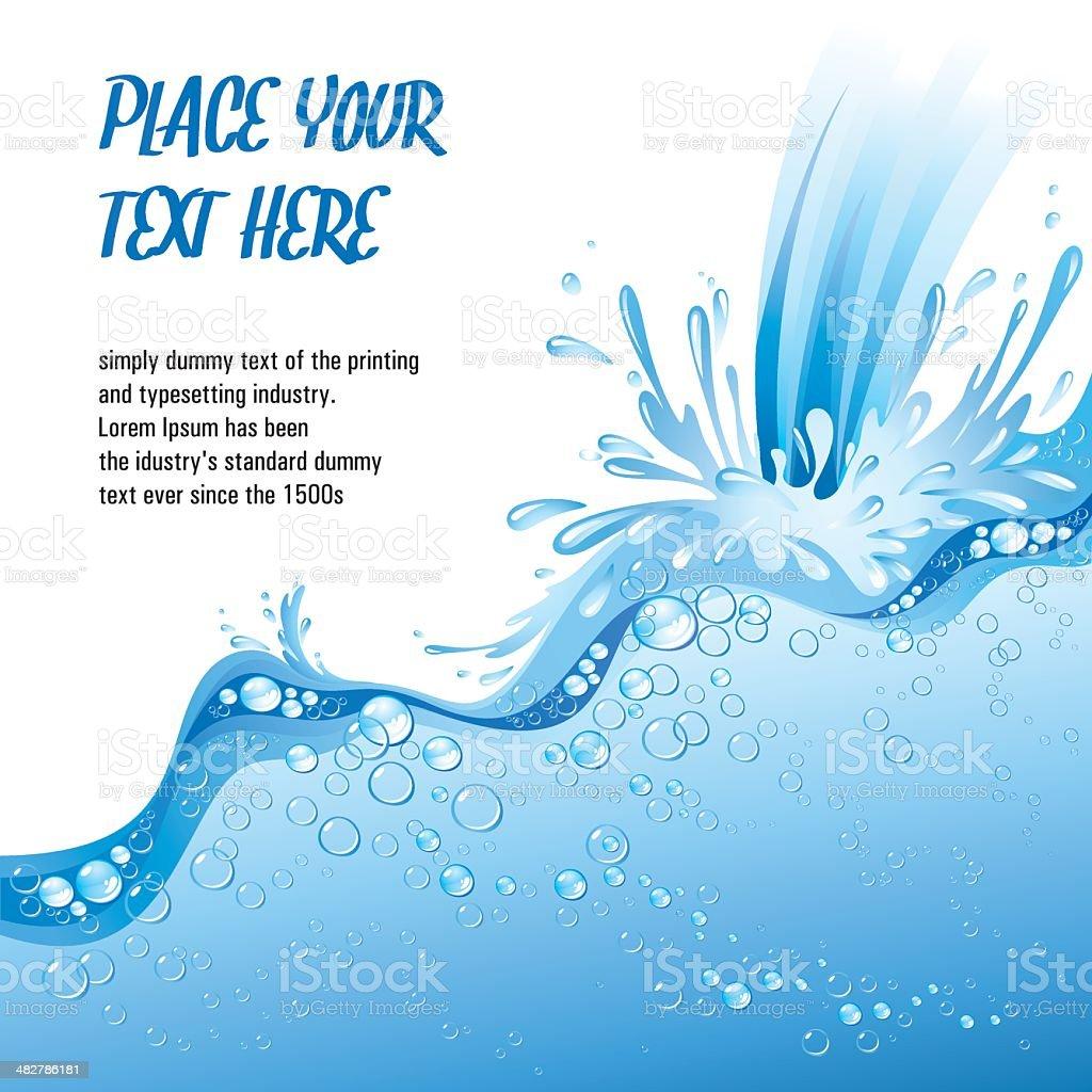 Water Splashes template vector art illustration