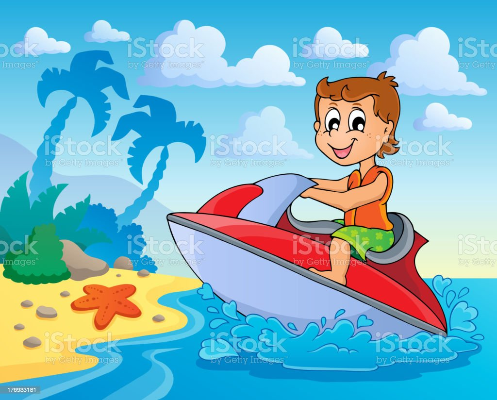 Water sport theme image 4 royalty-free stock vector art