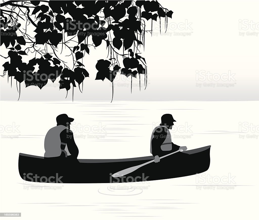 Water Sport Vector Silhouette royalty-free stock vector art