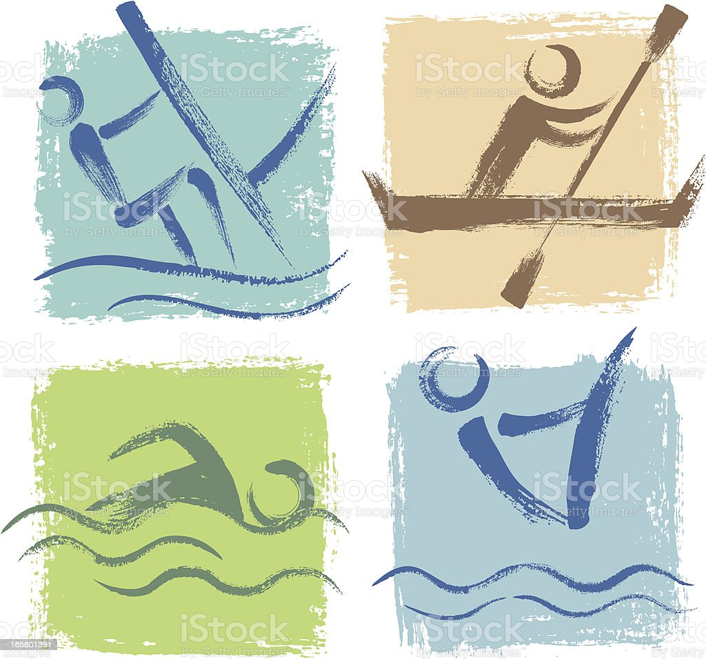Water Sports Icon royalty-free stock vector art