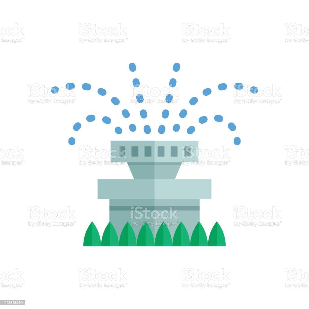 Water Sprinkler Icon vector art illustration