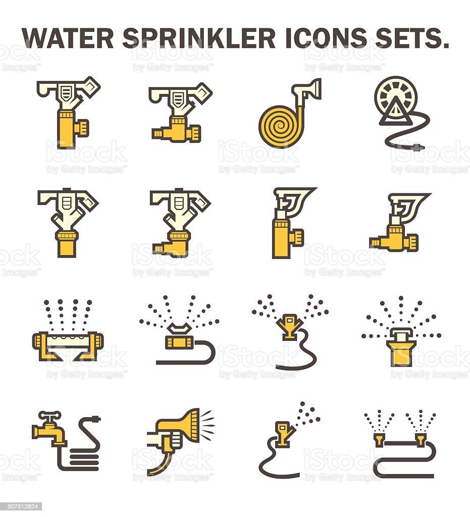 Water sprinkler vector art illustration