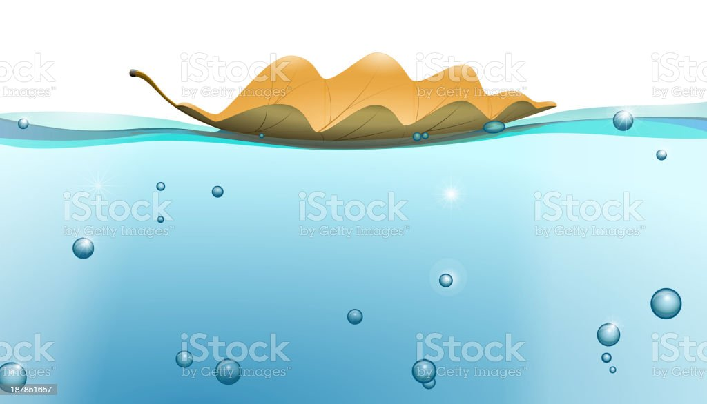 Water surface with Leaf royalty-free stock vector art