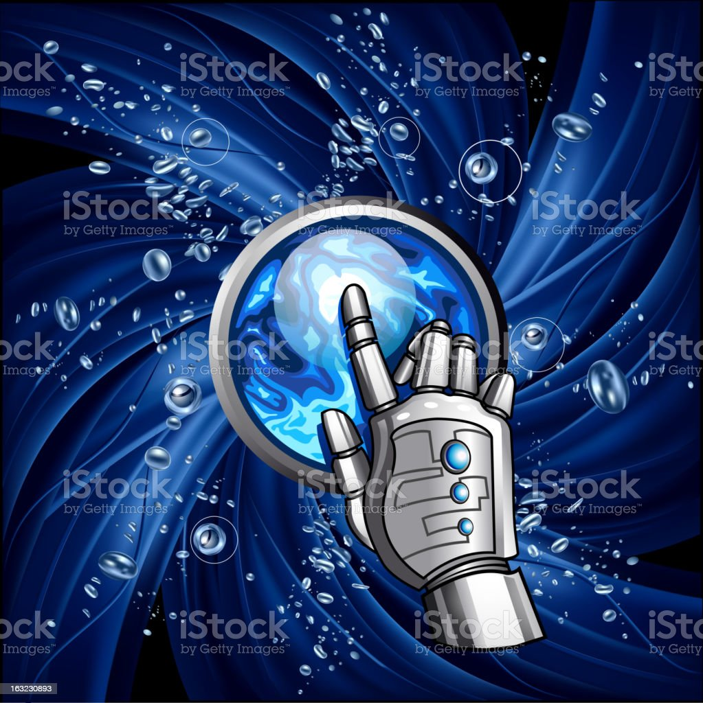 Water swirl background vector art illustration