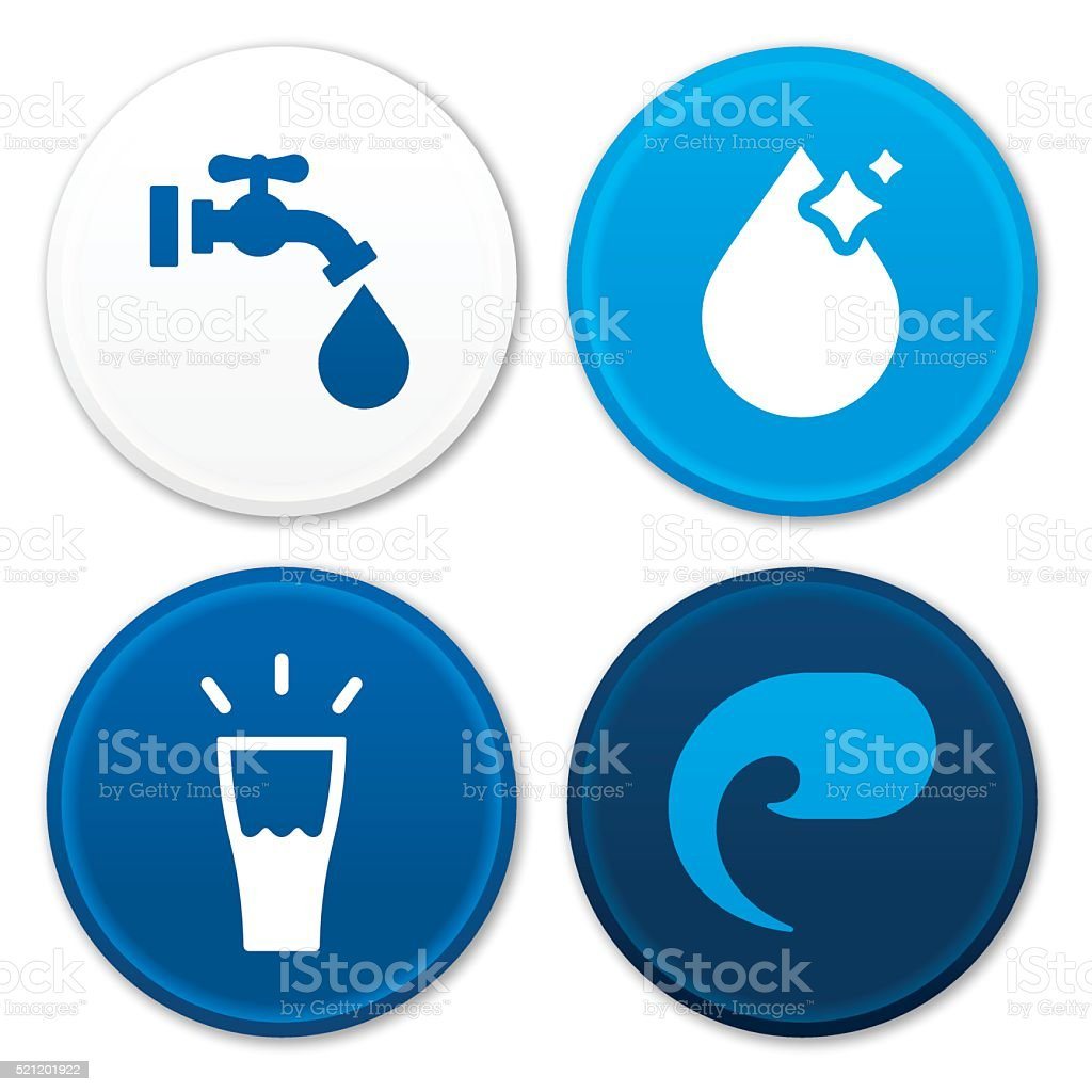 Water Symbols vector art illustration