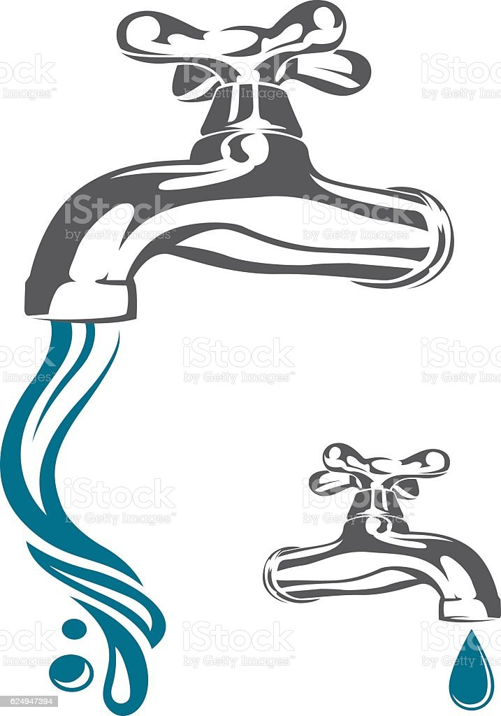 water tap image vector art illustration