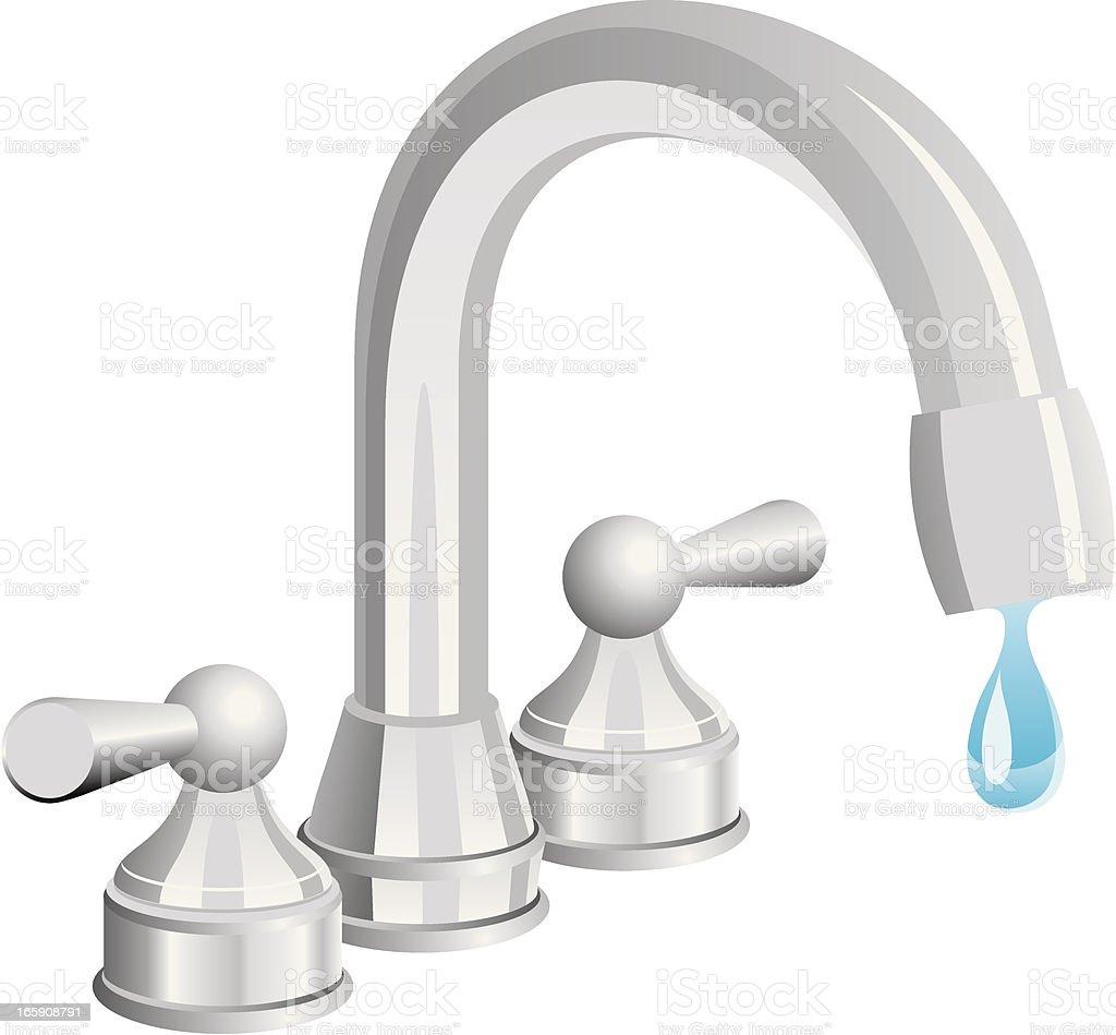 Water tap royalty-free stock vector art