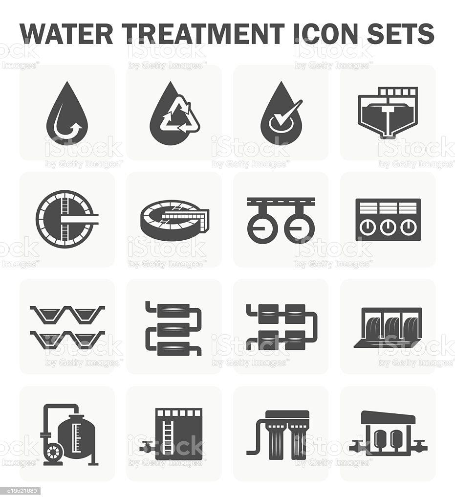 Water treatment icon vector art illustration