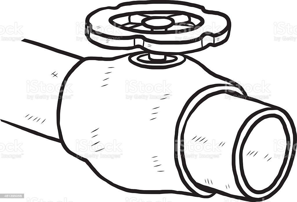water valve vector art illustration
