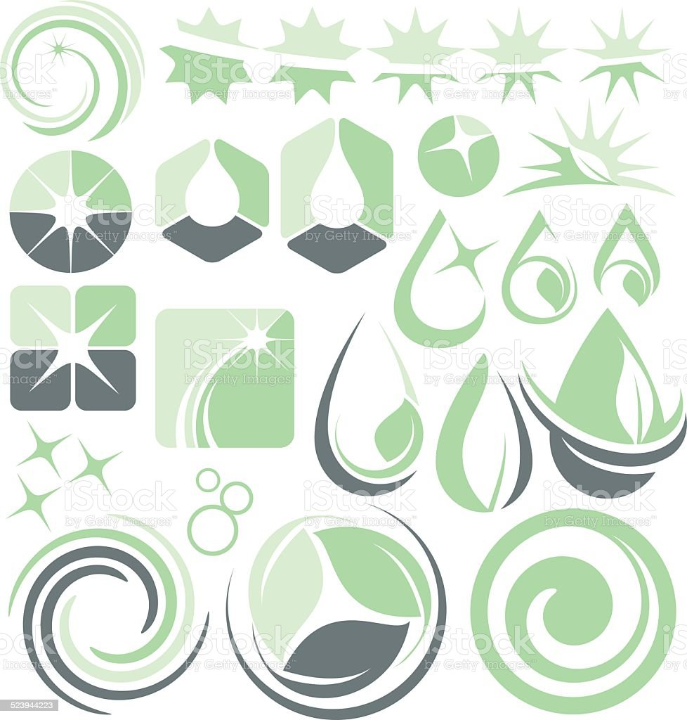 Water, wash and cleaning design elements and logo ideas vector art illustration