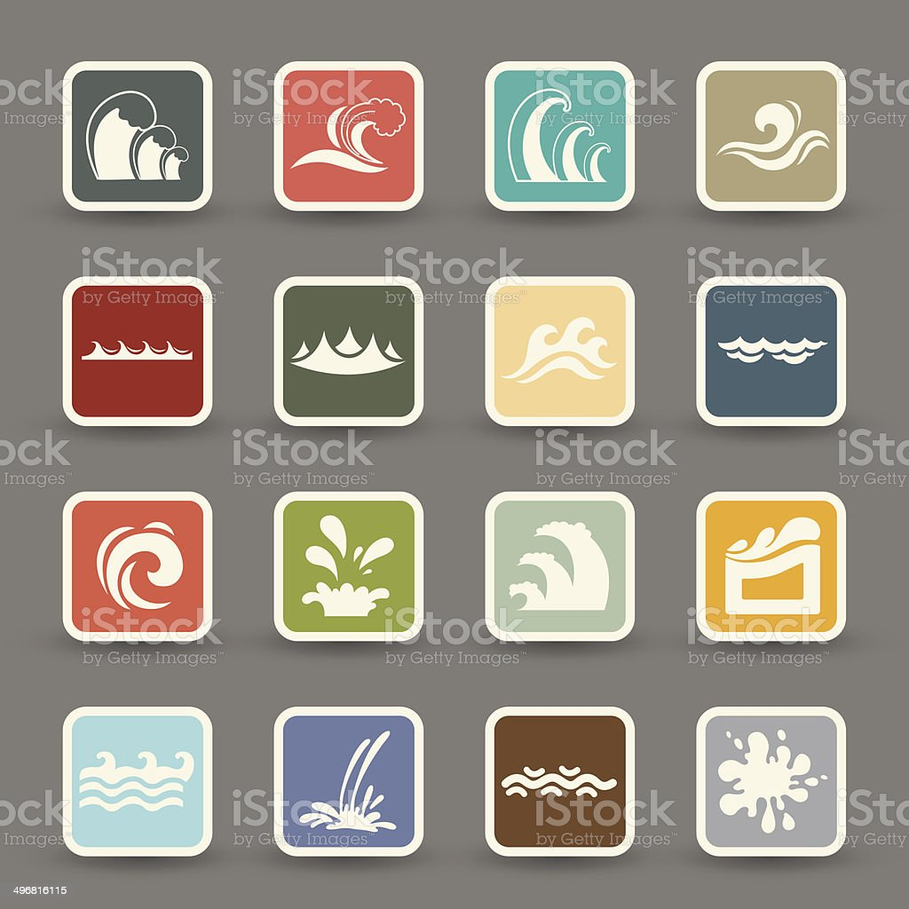 water wave icons.vector eps10 royalty-free stock vector art