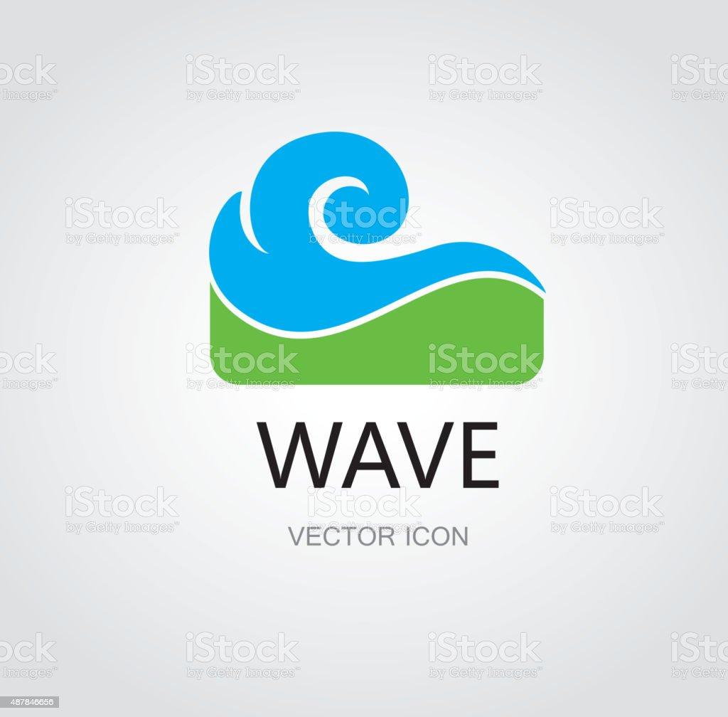 Water wave symbol vector art illustration