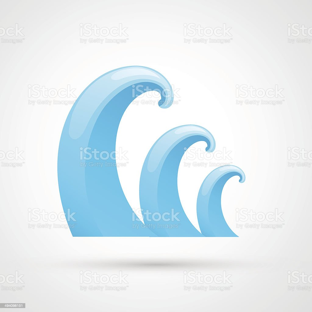 water wave royalty-free stock vector art