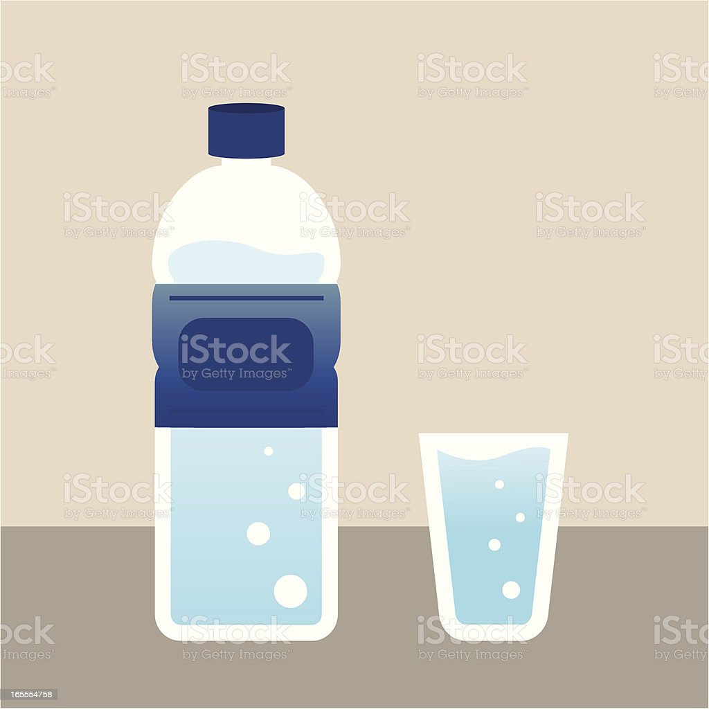 water with bottle vector art illustration