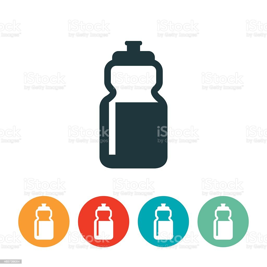 Waterbottle Icon vector art illustration