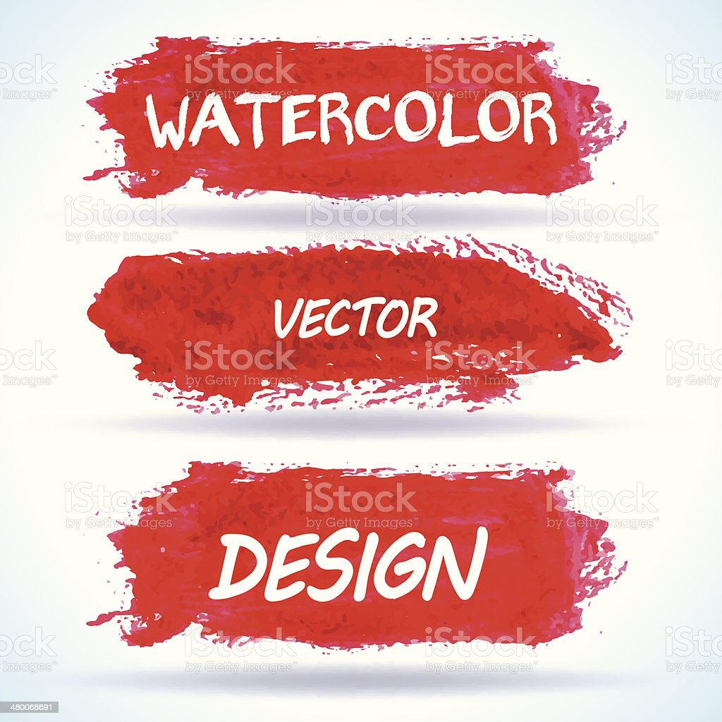 Watercolor abstract background vector illustration vector art illustration