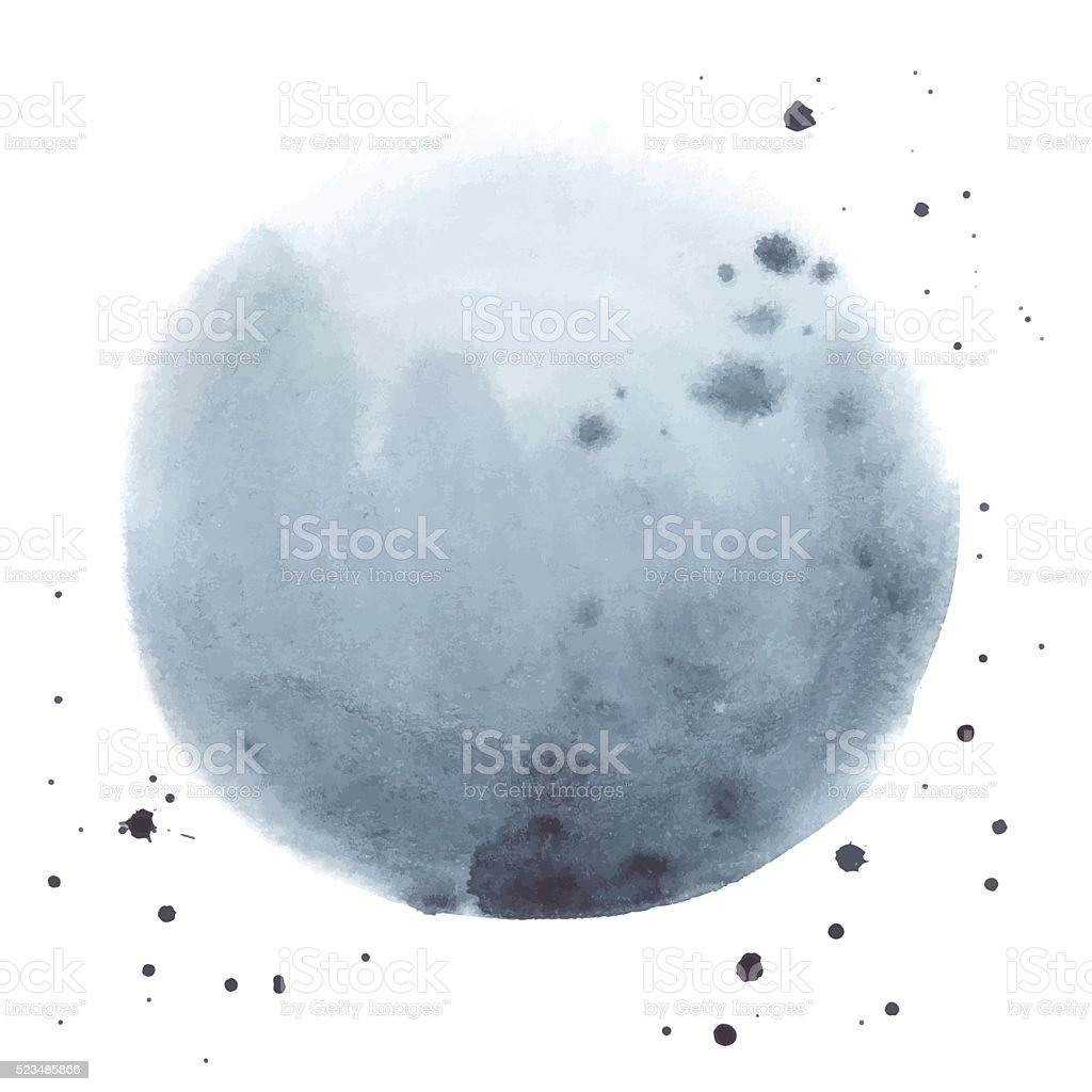 Watercolor abstract grey stain made in vector vector art illustration