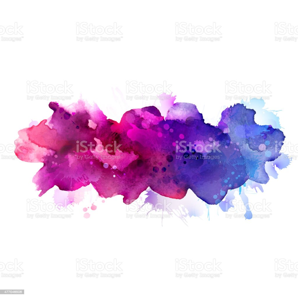 watercolor abstract vector art illustration