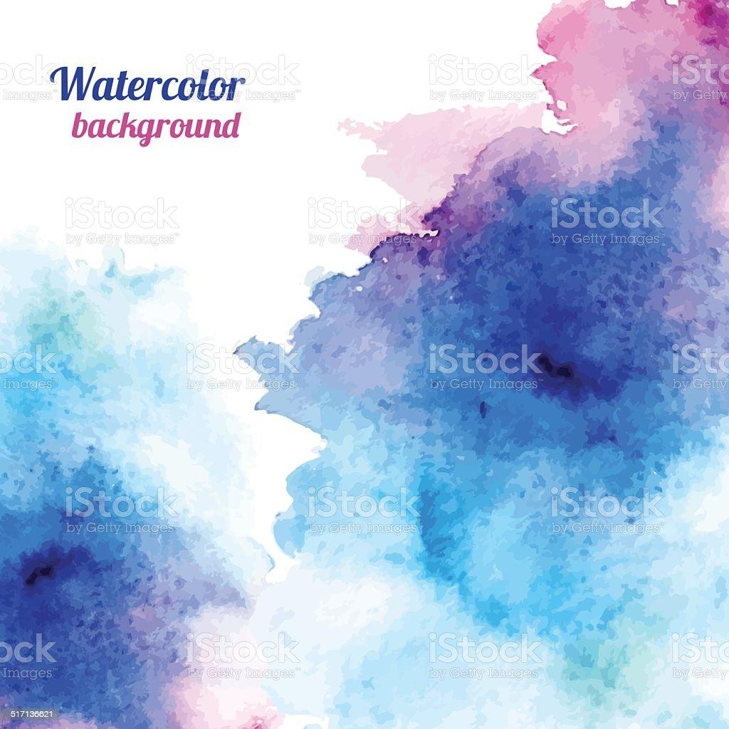 Watercolor background. Vector illustration vector art illustration